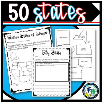 50 States Pack (Games & Activity Pages) by Fun Hands-on Learning on