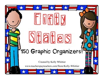 50 States Graphic Organizers - 150! - Perfect for KWL Charts and State Studies