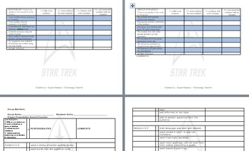 50 States Group Study w/ a Star Trek Theme: Grades 3-5