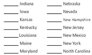 50 States Identification Quiz
