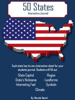 50 States Interactive Journal