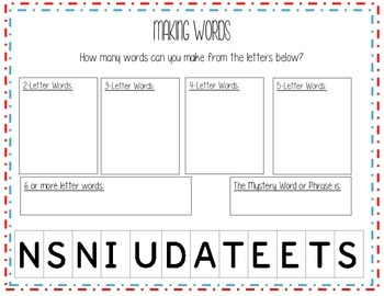 United States Literacy Packet