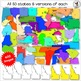 USA States Clip Art. USA Maps. Color and black and white maps. 460+ Images.