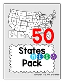 50 States - MEGA Pack - Packet, Quizzes and Cards