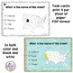 50 States Map Identification Task Cards - Identify the 50 States Task Cards