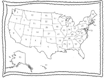 50 States Map Quiz by Frazzled and Fabulous | Teachers Pay Teachers