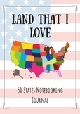 50 States Notebooking Journal
