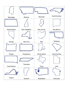 50 States Outlines- with and without labels