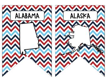 50 States Pennants