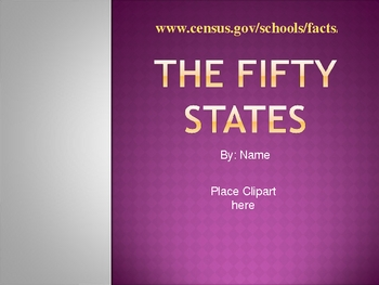 50 States PowerPoint Activity
