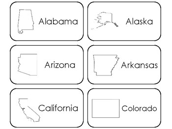 photo relating to 50 States Flash Cards Printable identify 50 Suggests Printable Flashcards. US Geography.