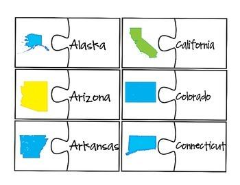 50 States Puzzle Set