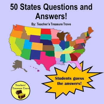 50 States Questions and Answers Powerpoint