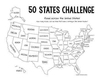 50 States Read Across the USA Reading Challenge