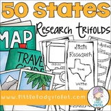 50 States Research Project Report Trifold Brochures