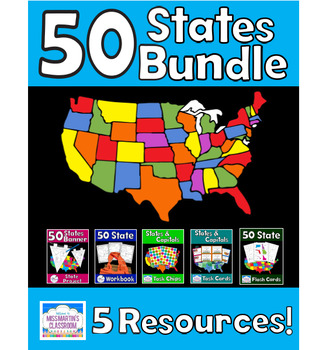 States and Capitals Resources Bundle - 5 Resources!