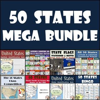 50 States Resources - MEGA BUNDLE!