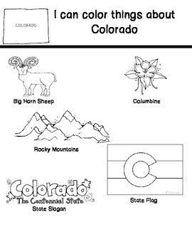 50 States Symbol Color Pages