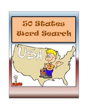 50 States Word Search by Surviving Social Studies | TpT