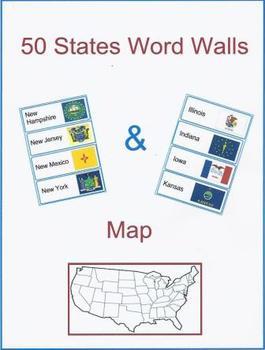 50 States  Word Walls & Map