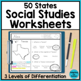 50 States Worksheets - Social Studies for Special Education and Autism