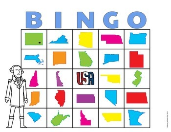 50 States and Capitals Bingo