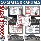 50 States and Capitals Boom Activity Bundle