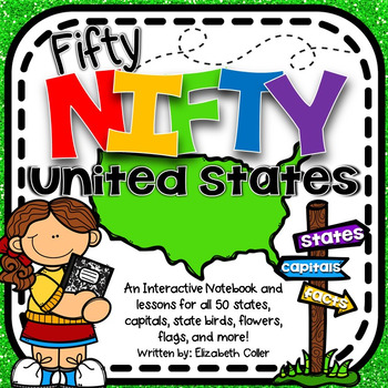 50 States and Capitals Interactive Notebook - 50 Nifty United States