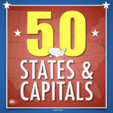 50 States and Capitals: Activities, Maps, Tests, State Res