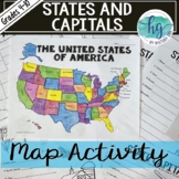 50 States and Capitals Map Activity (works with Distance L