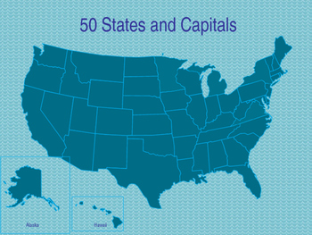 50 States and Capitals PPT