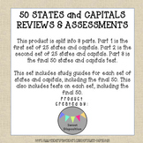 50 States and Capitals Reviews & Assessments (Answer Keys
