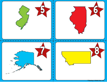 50 States and Capitals Task Cards