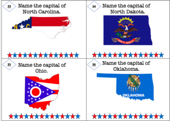 50 States and Capitals Task Cards/Flash Cards