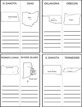 50 States and Capitals Workbook