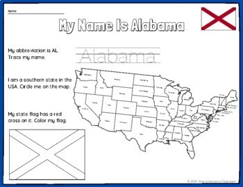50 States of the USA Activity Bundle (Map and Flags)