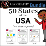 50 States of the USA and Symbols (Capitals, Birds, Flowers)