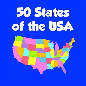 50 States of the USA (names and locations)