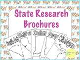 50 US States Research Brochures with Editable Checklist & Rubric