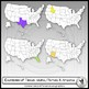 50 States placed on USA Maps Clip Art 50 images
