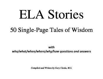 ELA Stories: 50 Single-Page Tales of Wisdom