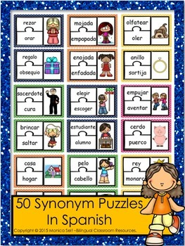 50 Synonym Puzzles In Spanish