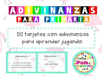 50 Tarjetas con Adivinanzas en Castellano