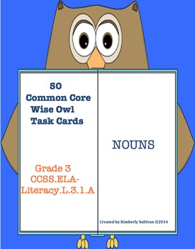 Back to school Task Cards Nouns Common Core! Morning Work Grade 3