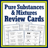 Classifying Matter Test Review Card Game - Pure Substance vs. Mixtures Review