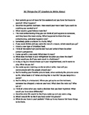 50 Things For 5th Graders to Write About