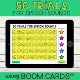 50 Trials for Speech Sounds   Boom Cards™   Articulation