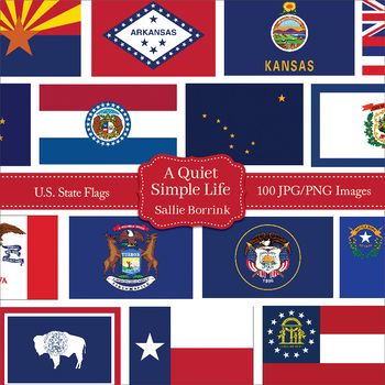 50 U.S. State Flags Clip Art - United States State Flags Clipart  States Flags Pictures on