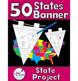 50 U.S. States Banner - A Creative States Report or Classroom Decoration