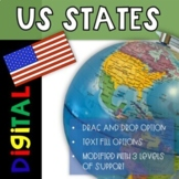 50 US States Maps Google Slides DIGITAL